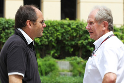 (L to R): Gerhard Berger, with Dr Helmut Marko, Red Bull Motorsport Consultant