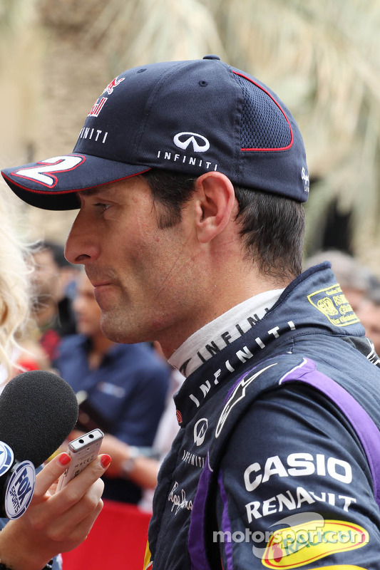 Mark Webber, Red Bull Racing com a imprensa