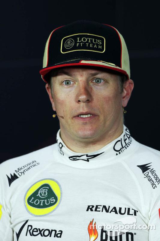 segundo colocado Kimi Raikkonen, Lotus F1 Team na coletiva da FIA