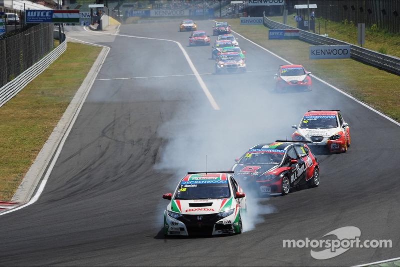 Crash, Tiago Monteiro, Honda Civic Super 2000 TC, Honda Racing Team Jas