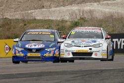 Jeff Smith and Jason Plato go side by side