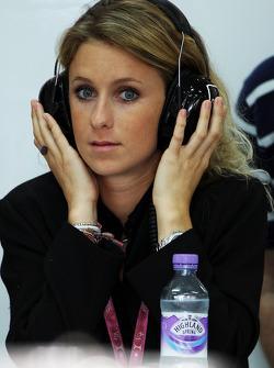 La novia de Jules Bianchi, del Marussia F1 Team