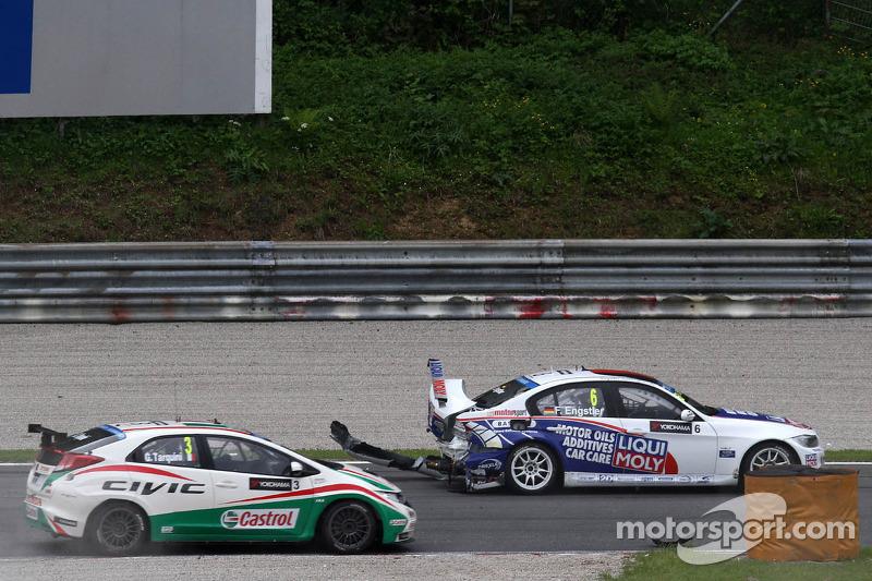 Crash, Franz Engstler, BMW E90 320 TC, Liqui Moly Team