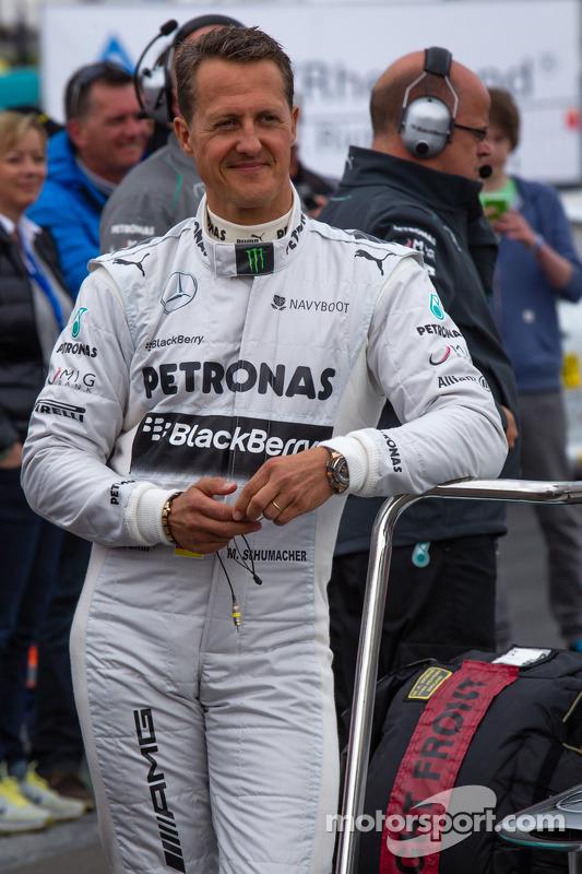 Michael Schumacher na apresentação