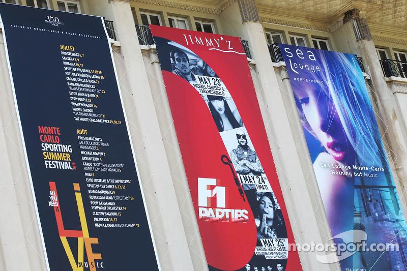 Banners voor events in Monaco