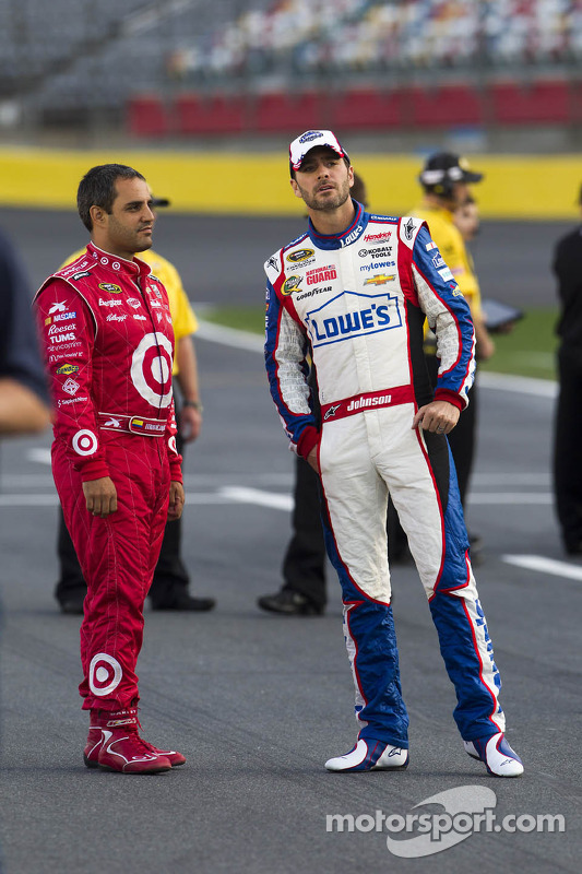Juan Pablo Montoya e Jimmie Johnson