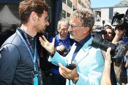(L naar R): Andre Villas-Boas, Tottenham Hotspur Manager met Eddie Jordan, BBC-expert