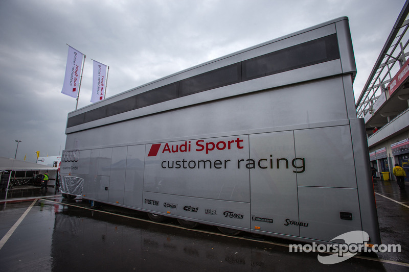 Audi Sport Customer Racing paddock