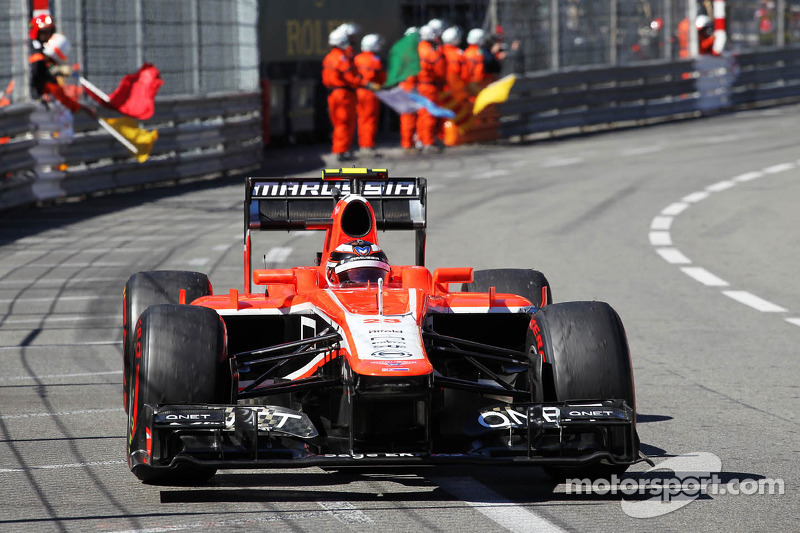 Max Chilton, Marussia F1 Team MR02 at the end of the race