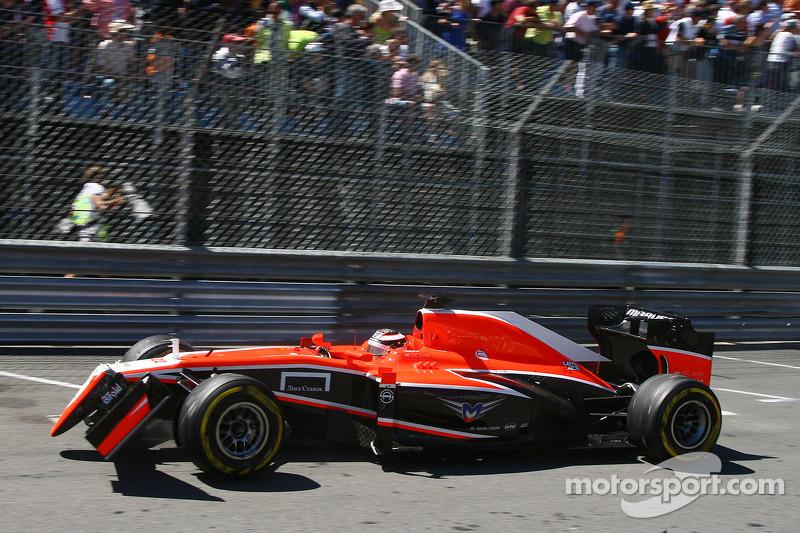 Primer abandono de Bianchi en Fórmula 1