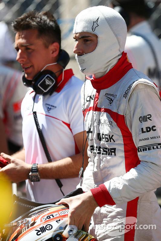 Jules Bianchi, Marussia F1 Team no grid com a corrida interrompida