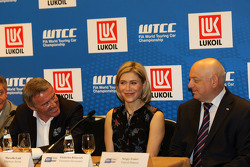 Press conference, Marcello Lotti, WTCC General Manager, Ekaterina Beltsevich, Circuit Project Manager and Sergey Ivanov, Executiv Director, Russian Automobile Federation