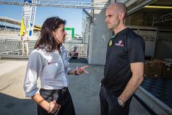 Audi Sport race engineer Leena Gade and Marino Franchitti