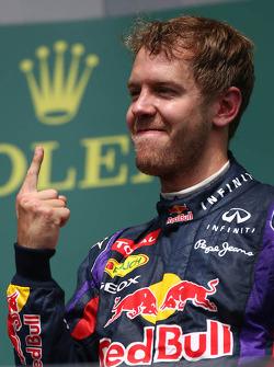 1st place for Sebastian Vettel, Red Bull Racing