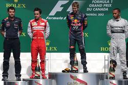 Fernando Alonso, Scuderia Ferrari, Sebastian Vettel, Red Bull Racing e Lewis Hamilton, Mercedes Grand Prix
