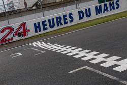 Línea de salida / meta en La Sarthe