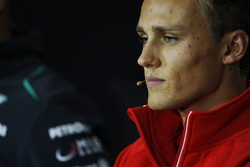 Max Chilton, Marussia F1 Team in the FIA Press Conference.
