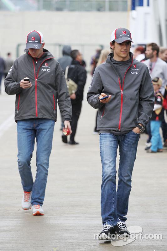Esteban Gutierrez, Sauber e seu companheiro de equipe Nico Hulkenberg