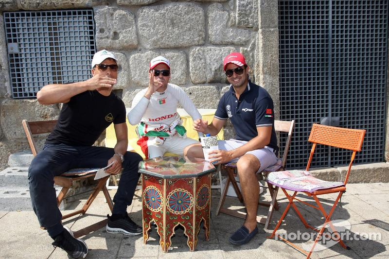 City parade, Stefano D'aste, Honda Civic Super 2000 TC, Honda Racing Team Jas en Mehdi Bennani, BMW E90 320 TC, Proteam Racing