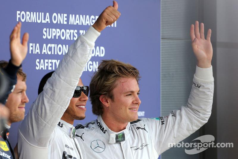 Lewis Hamilton, Mercedes Grand Prix and Nico Rosberg, Mercedes GP