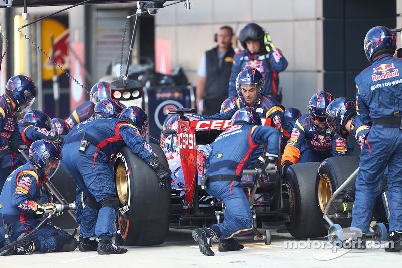 Daniel Ricciardo Scuderia Toro Rosso STR8 pitstop