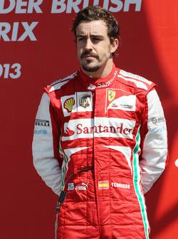Fernando Alonso Ferrari op het podium