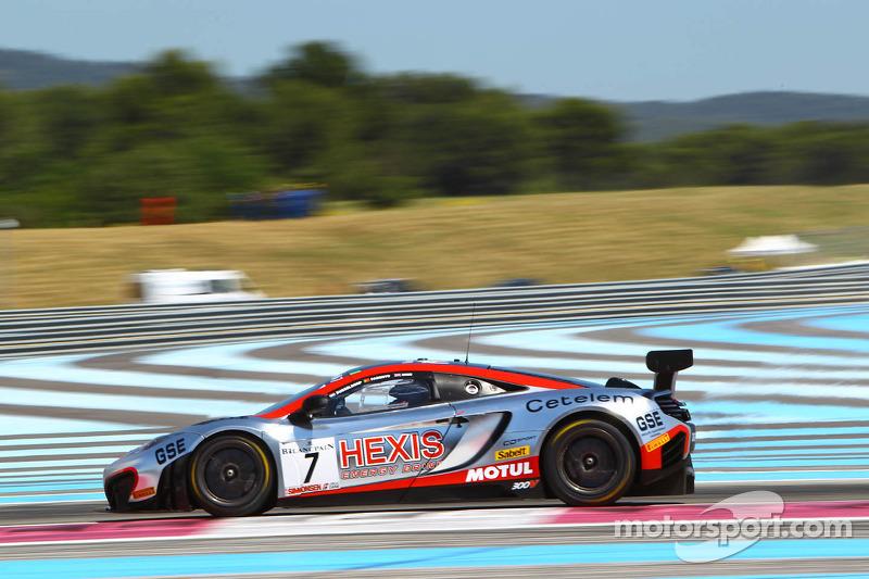 #7 Hexis Racing: Stef Dusseldorp, Alexander Sims, Alvaro Parente, McLaren MP4-12C
