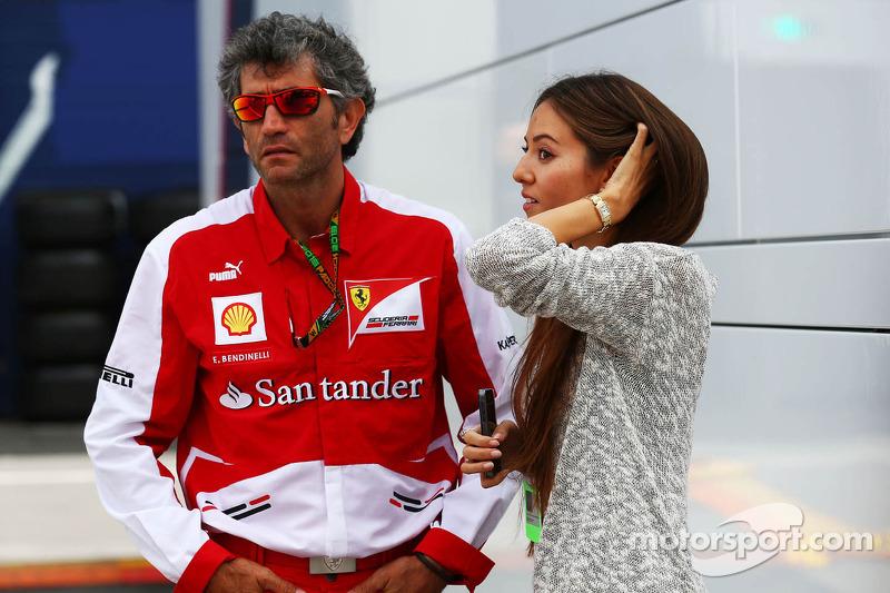 Jessica Michibata, McLaren with Edoardo Bendinelli, Personal Trainer of Fernando Alonso, Ferrari