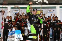 Race winner Matt Kenseth celebrates