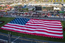 A giant American flag