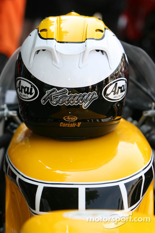 Kenny Roberts' helmet at Goodwood Festival of Speed