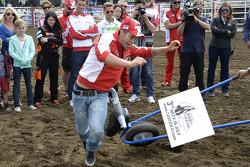 Andrea Dovizioso, Ducati Team visits a rodeo