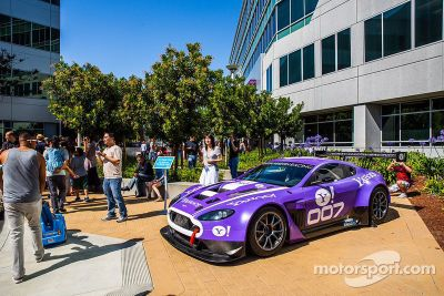 TRG Aston Martin GT3 visits Yahoo!