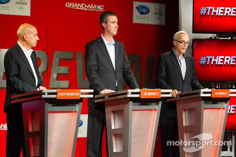 American Le Mans Series President en CEO Scott Atherton, GRAND-AM President en CEO Ed Bennett, SME B