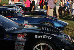 Corvette race cars at the Friday Concours in Elkhart Lake.