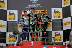 Podium From left: Jules Cluzel, Loris Baz and Eugene Laverty