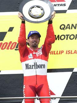Podio: Max Biaggi, Yamaha Factory Racing