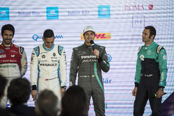 Nelson Piquet Jr., Jaguar Racing in the press conference with Lucas di Grassi, Audi Sport ABT Schaeffler, Sébastien Buemi, Renault e.Dams, Luca Filippi, NIO Formula E Team