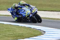 Андреа Янноне, Team Suzuki MotoGP, и Валентино Росси, Yamaha Factory Racing