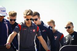 Romain Grosjean, Haas F1 Team, Esteban Ocon, Force India, Nico Hulkenberg, Renault Sport F1 Team, Daniil Kvyat, Scuderia Toro Rosso, Kevin Magnussen, Haas F1 Team, Valtteri Bottas, Mercedes AMG F1, in the drivers parade