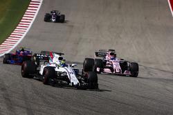Felipe Massa, Williams FW40, Sergio Perez, Sahara Force India F1 VJM10, Daniil Kvyat, Scuderia Toro Rosso STR12