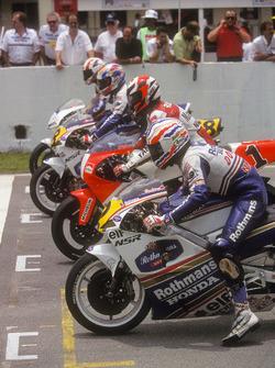 Start zum GP Malaysia 1992 der 500er Klasse