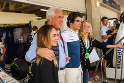 Lance Stroll, Williams and his Father Lawrence Stroll, celebrate his 19th Birthday with family
