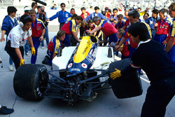 Car of Nigel Mansell, Williams FW11B after his crash