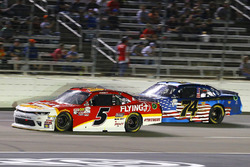 Michael Annett, JR Motorsports Chevrolet and Mike Harmon, Mike Harmon Racing Dodge