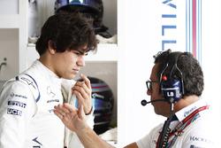Lance Stroll, Williams, with Luca Baldisserri, Engineer, Williams F1
