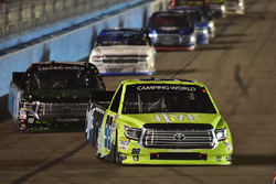 Grant Enfinger, ThorSport Racing Toyota, Ryan Truex, Hattori Racing Enterprises Toyota