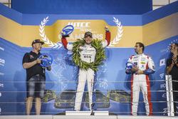 Trophy Podium: Winner Tom Chilton, Sébastien Loeb Racing, Citroën C-Elysée WTCC, second place Rob Huff, All-Inkl Motorsport, Citroën C-Elysée WTCC, third place Mehdi Bennani, Sébastien Loeb Racing, Citroën C-Elysée WTCC