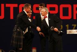 Derek Warwick receives an award