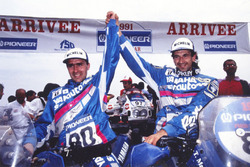 Winner Stéphane Peterhansel, Yamaha, second place Thierry Magnaldi, Yamaha